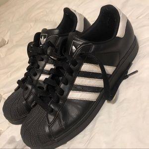 Men 10 Adidas Shell Toe leather  Ortholite sneaker
